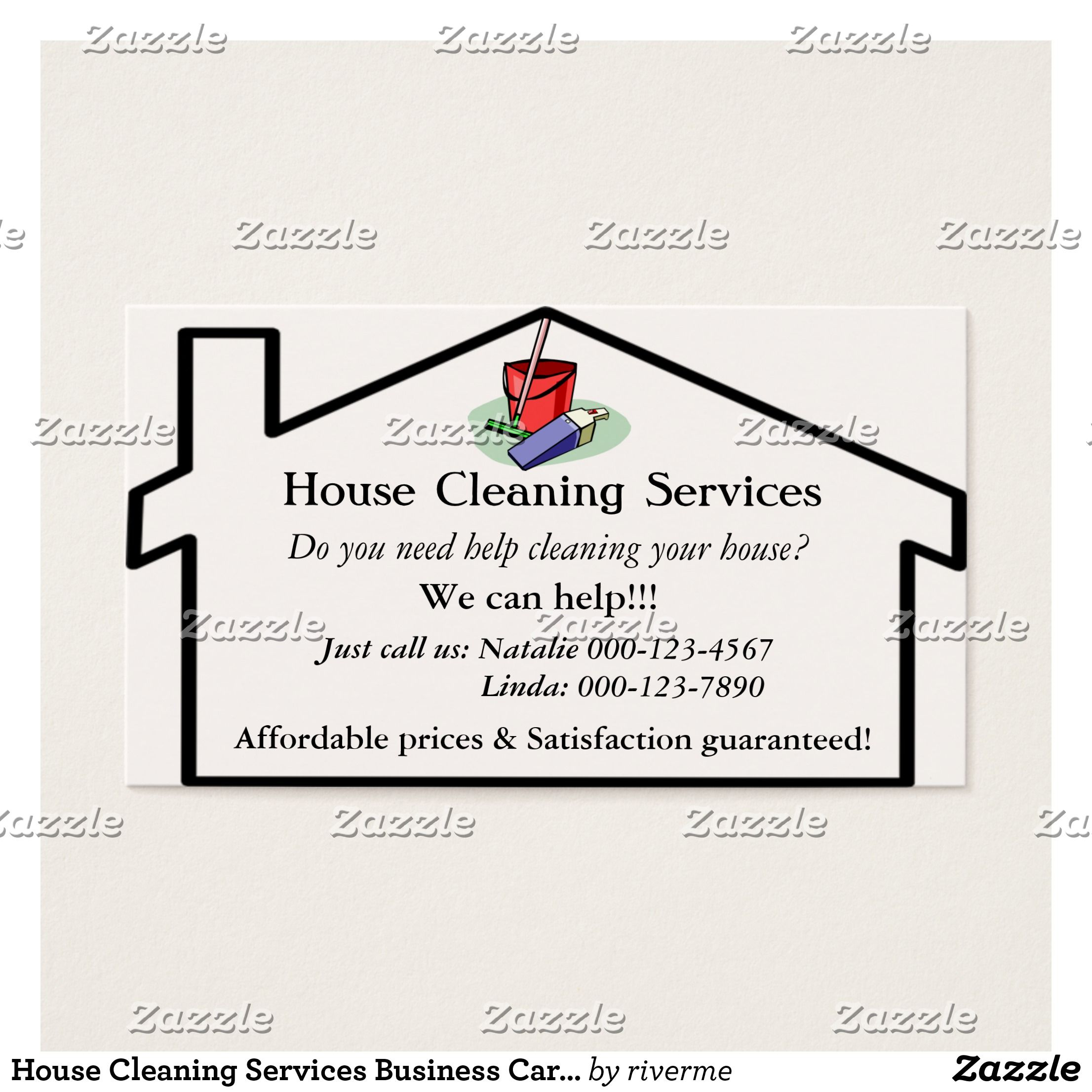 House Cleaning Services Business Card Template | Neat stuff ...
