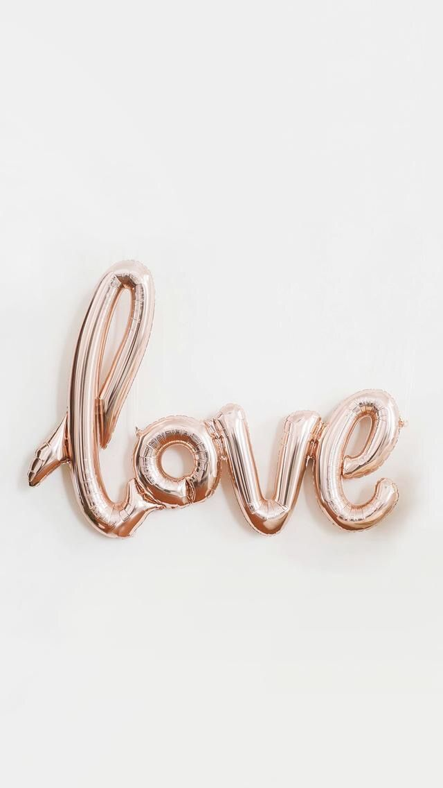 Valentine's Day wallpaper , lockscreen , heart , rose gold