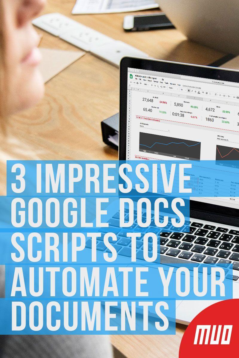 3 Impressive Google Docs Scripts To Automate Your Documents