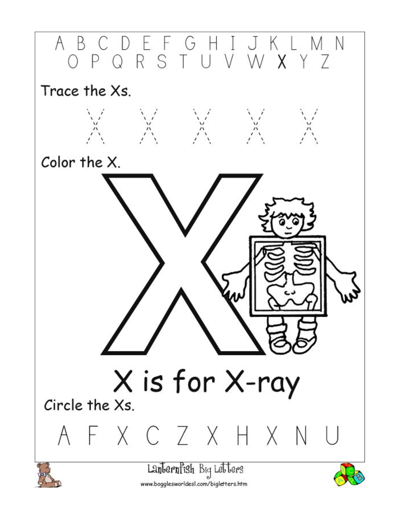 Alphabet Worksheets for Preschoolers of the alphabet