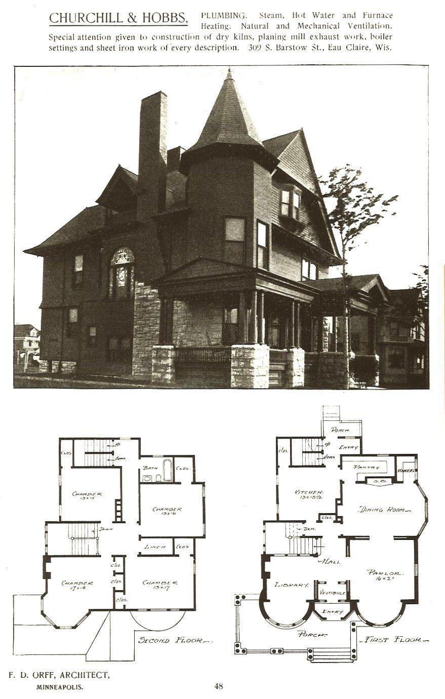 Frank Crowell House 1890 2019 Colfax Ave South Minneapolis Minnesota Bp 24057 Nov 8 1890 Arch Victorian House Plans Vintage House Plans Best House Plans