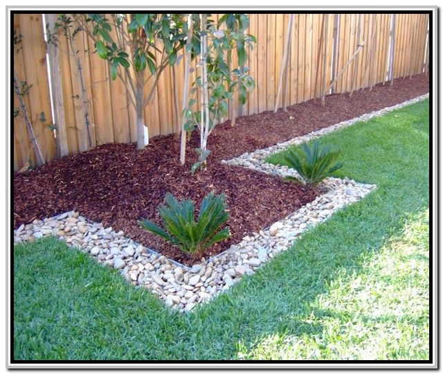 Home and garden river rock garden ideas google search Better homes and gardens flower bed designs