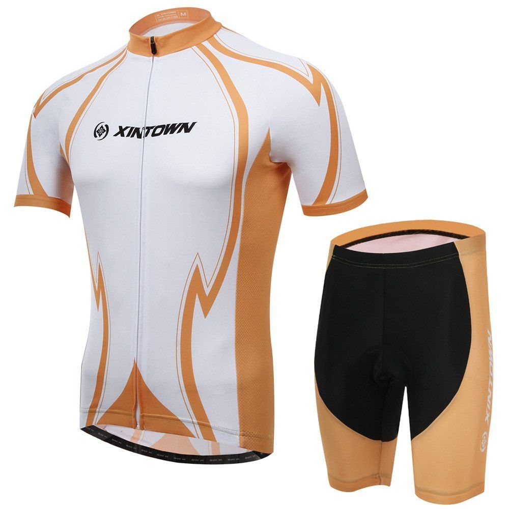 Men/'s Bicycle Outfits Cycling Jersey Bike Bicycle Short Sleeve Set Outdoor