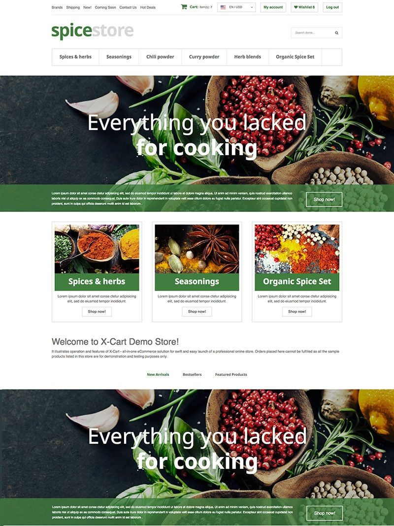 Grocery Store X-Cart Template | Template