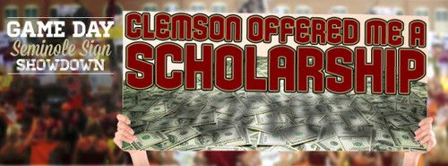 Clemson offered me a scholarship!
