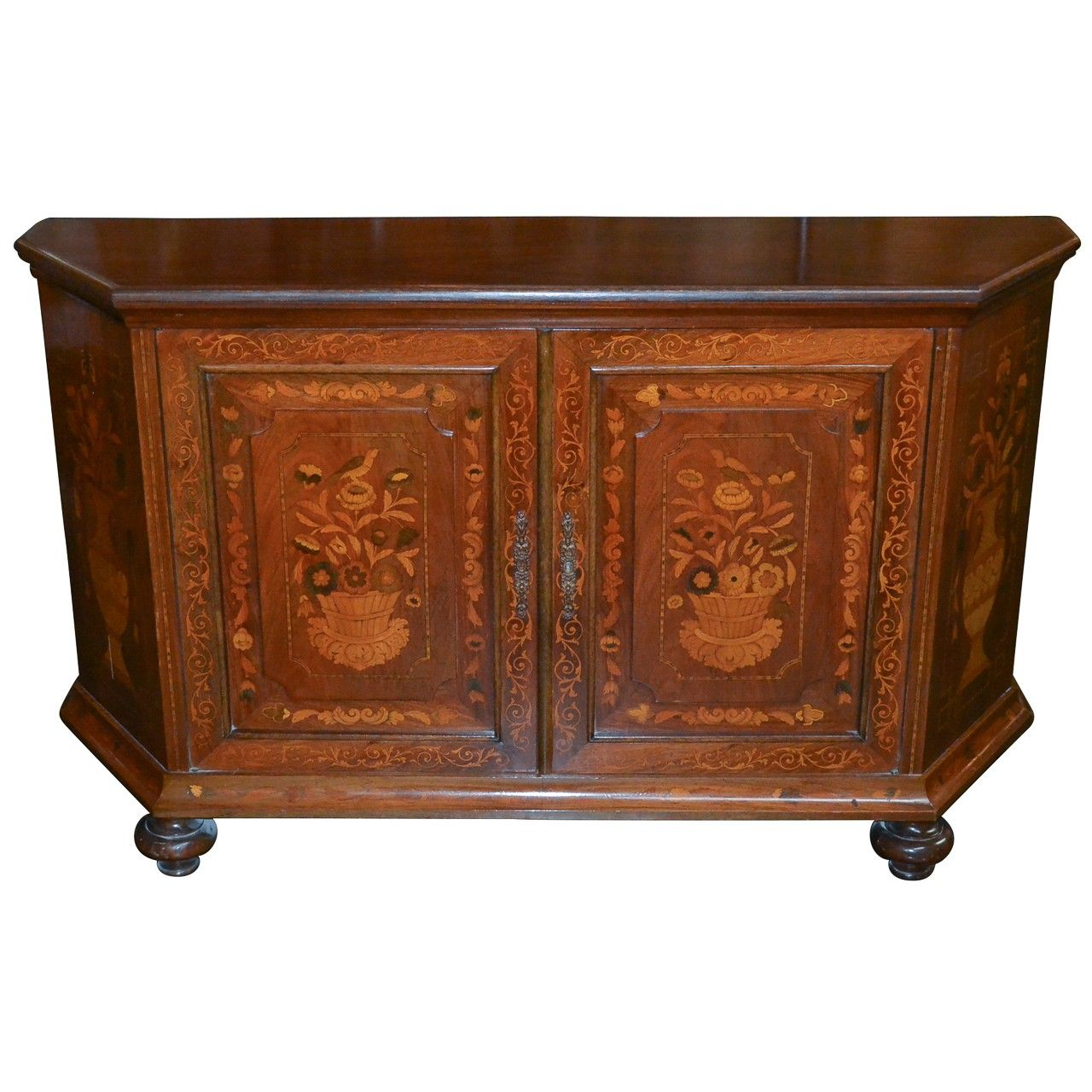 Merveilleux Italian Marquetry Inlaid Credenza   Antique Buffets, Sideboards   Antique  Furniture   Legacy Antiques