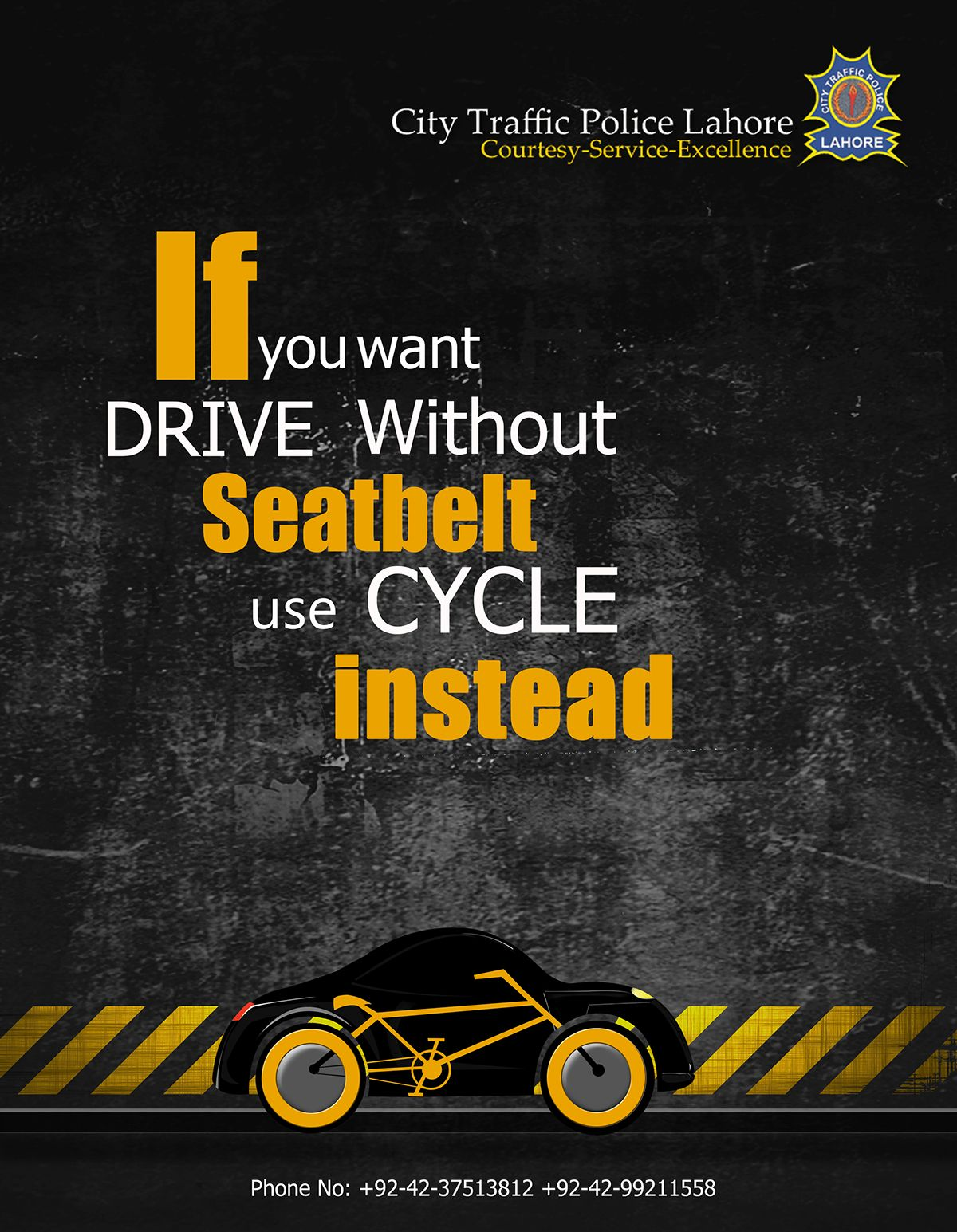 Campaign on Traffic rules on Behance Road safety poster