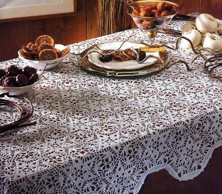 nappe rectangulaire crochet lace pinterest crochet tablecloth crochet and crochet stitches. Black Bedroom Furniture Sets. Home Design Ideas