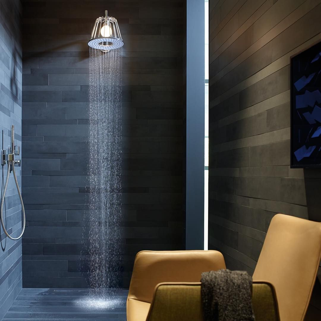 AXOR LampShower by Nendo  #AXOR #AXORnordic #Nendo #design #interior #lampshower #bathroom #bathroomdesign