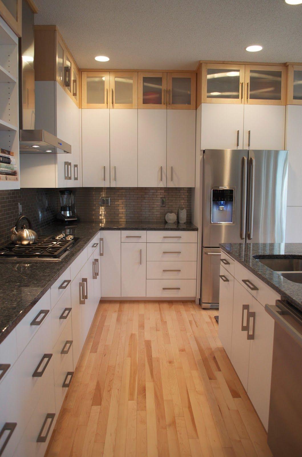 White Cabinets Grey Countertops Kitchen Cabinets Clean Kitchen Cabinets Laminate Flooring In Kitchen