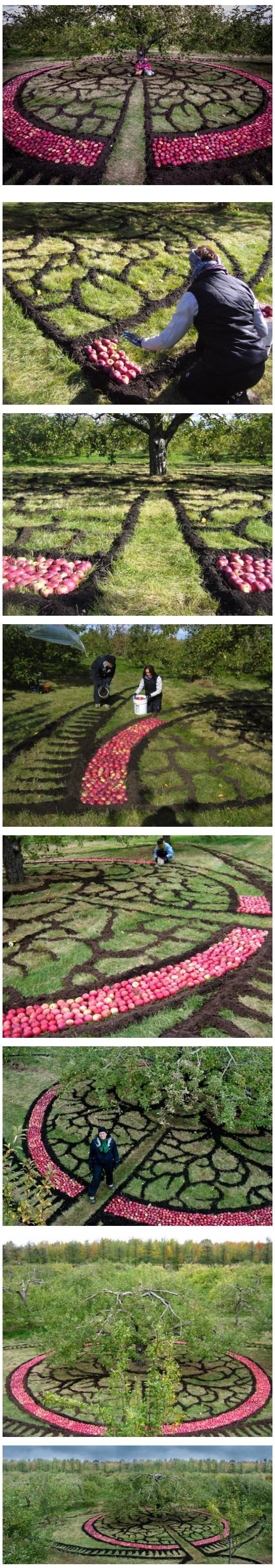 Land Art Mont-Saint-Hilaire in 2012