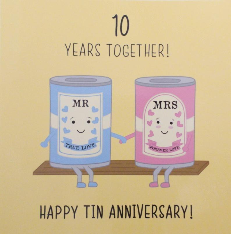 10th Wedding Anniversary Card Tin Anniversary Iconic Collection Wedding Anniversary Cards 10th Wedding Anniversary Wedding Anniversary Quotes