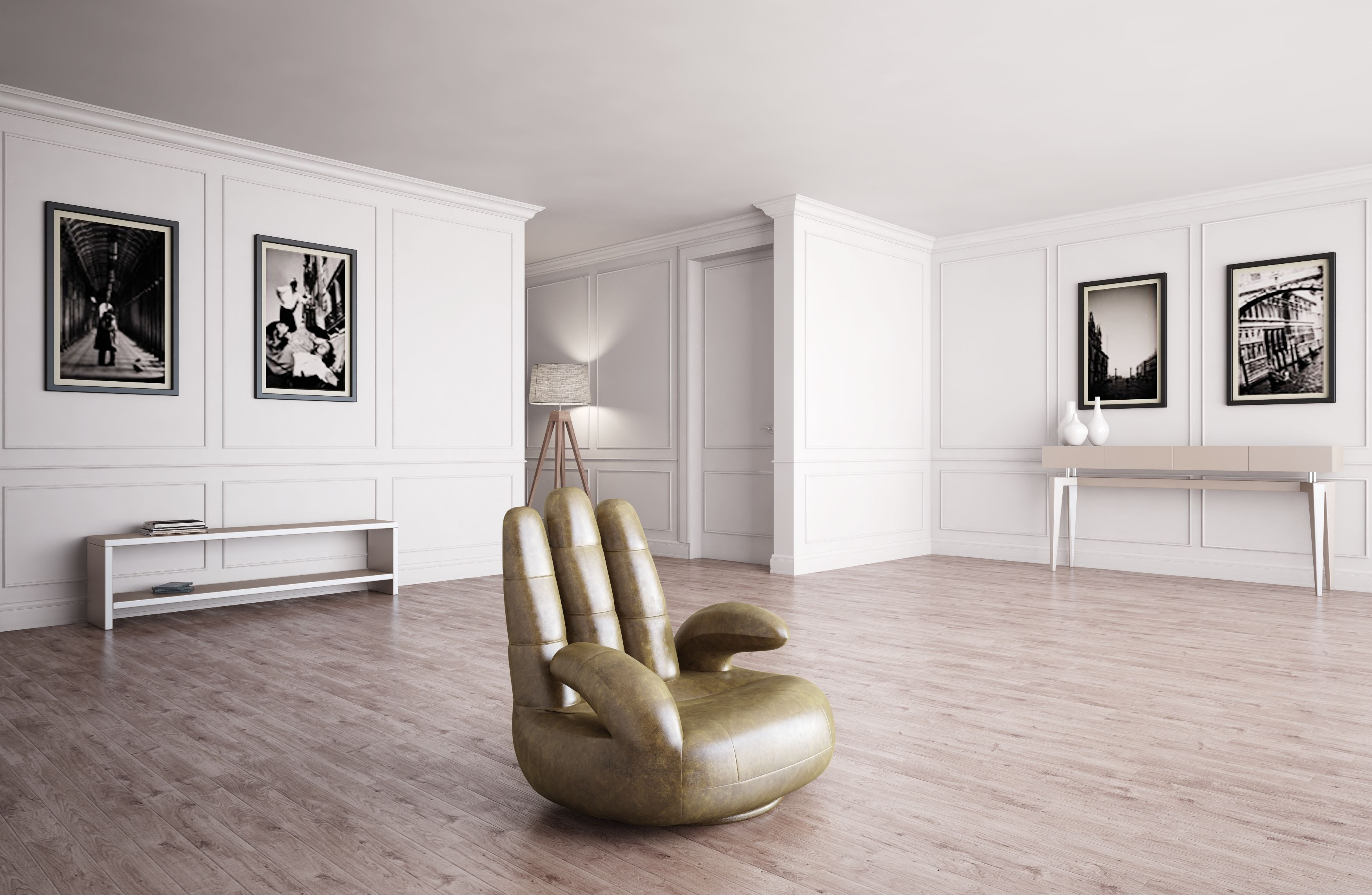 Estro salotti sosia modern white leather hand accent chair