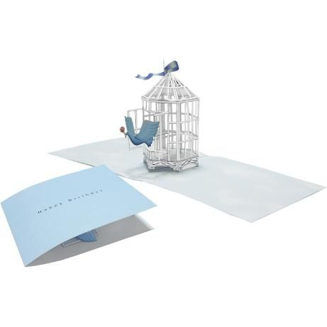 Pop Up Card Birdcage Animals Craft Cards Card Canon Creative Park Pop Up Cards Pop Up Card Templates Bird Cage