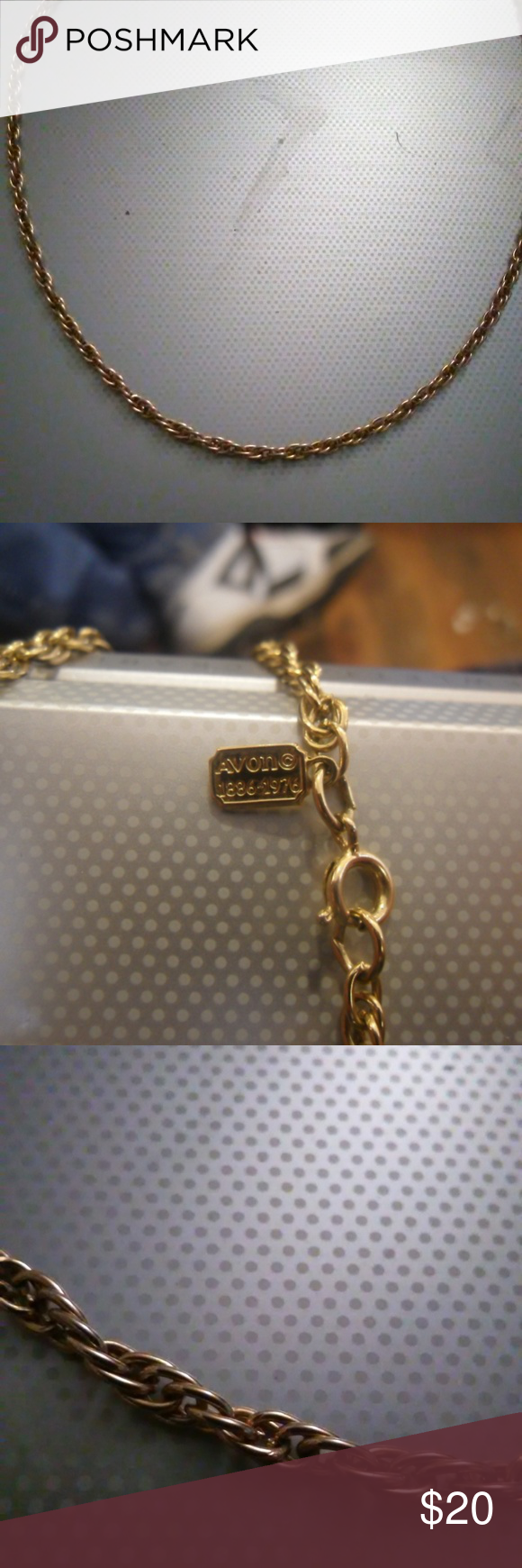 Avon Necklace 28 Chain Made By Avon Cannot Tell If It Is Real Gold Posted On Other Sites With Cheaper Shipping Cost Messag Avon Jewelry Necklace Jewelry