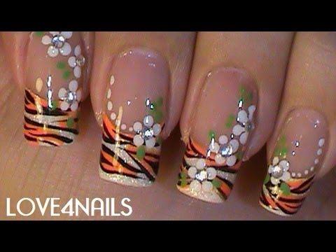 Summer ƹӝʒ Tiger Swag Nails Youtube Imagenes De Uñas