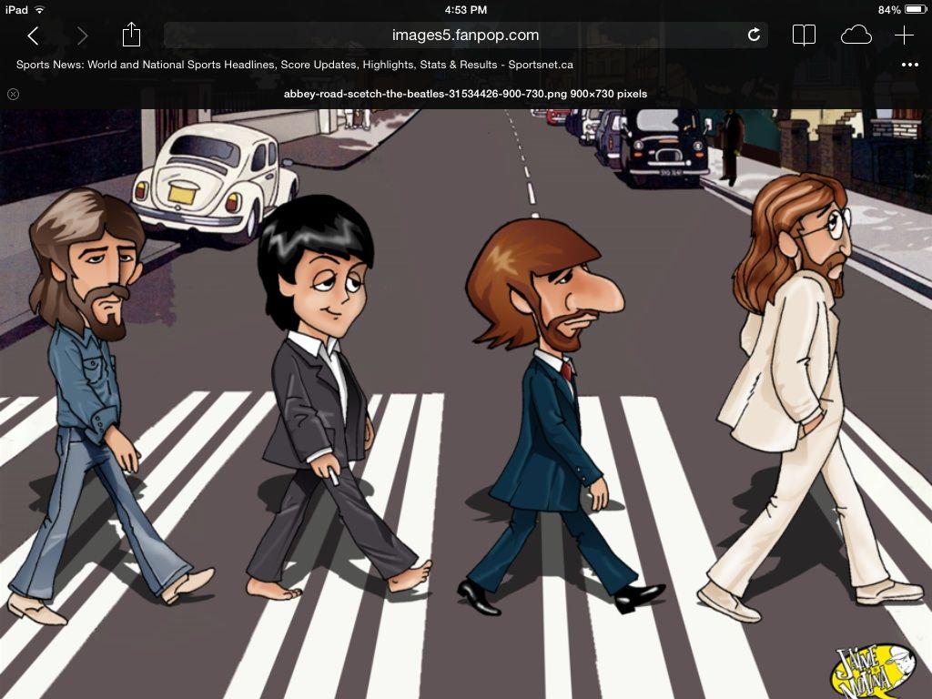 Beatles Abby Rd Cartoon Beatles Cartoon The Beatles Beatles Poster