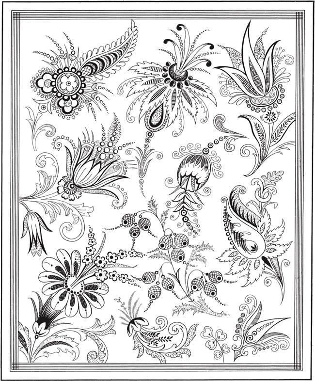 Welcome to Dover Publications Creative Haven Floral Inspirations ...