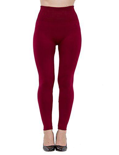 b4e293f4fdd8d Fleece Lined Leggings for Women High Waist, 6 Pack Elastic and Slimming at Amazon  Women's Clothing store: