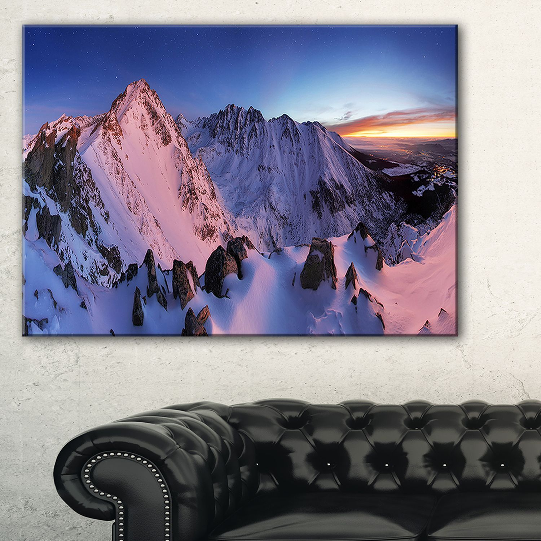 Slovakia Tatras Winter Mountains - Landscape Wall Art Print