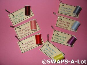 SEW lucky to be Girl Scouts SWAPS
