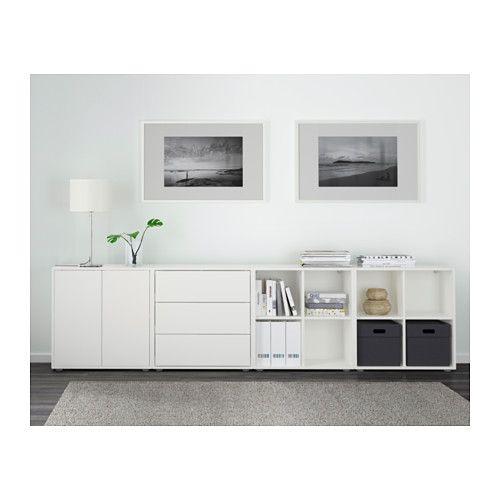eket combinazione di mobili con piedini, bianco | storage, window ... - Mobili Tv Moderni Ikea