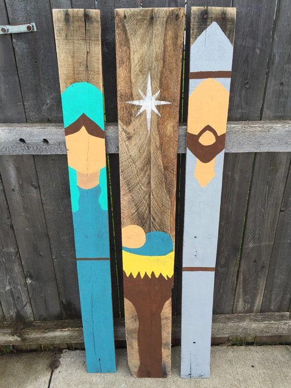 All of my pieces are made from reclaimed/repurposed pallet wood. The wood I come by is all unique and naturally distressed and different colors.