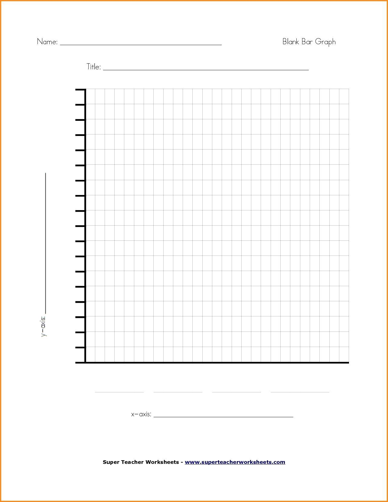 Printable Bar Graph Paper Elementary In