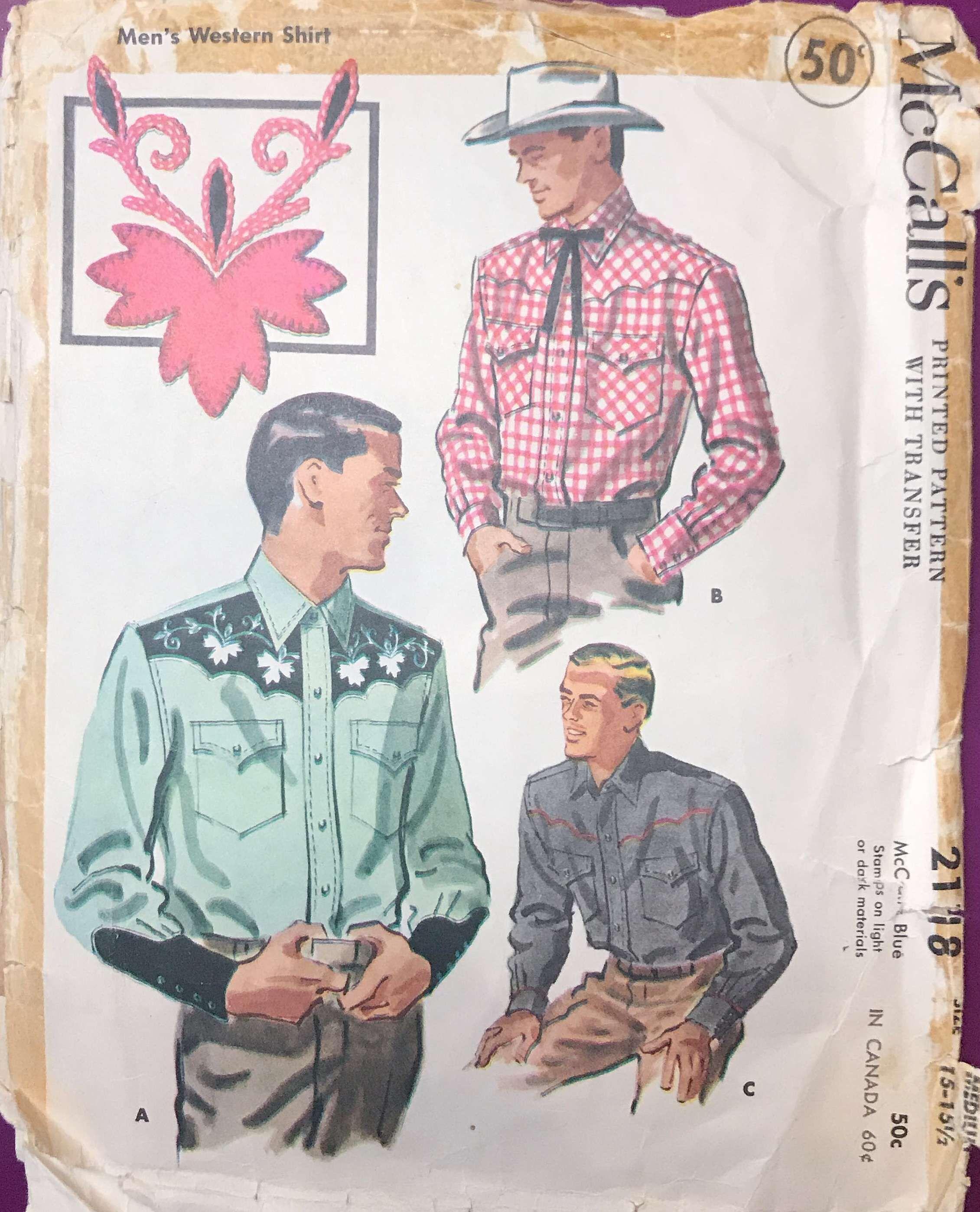 Sewing Western Menswear Using Vintage Patterns | Sewing