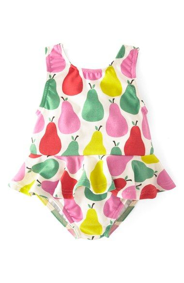 Mini Boden Ruffled Swimsuit (Baby Girls) available at #Nordstrom