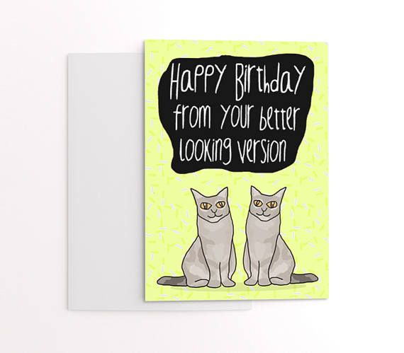 Funny Twins Birthday Card Greetings For Twin Brother Or