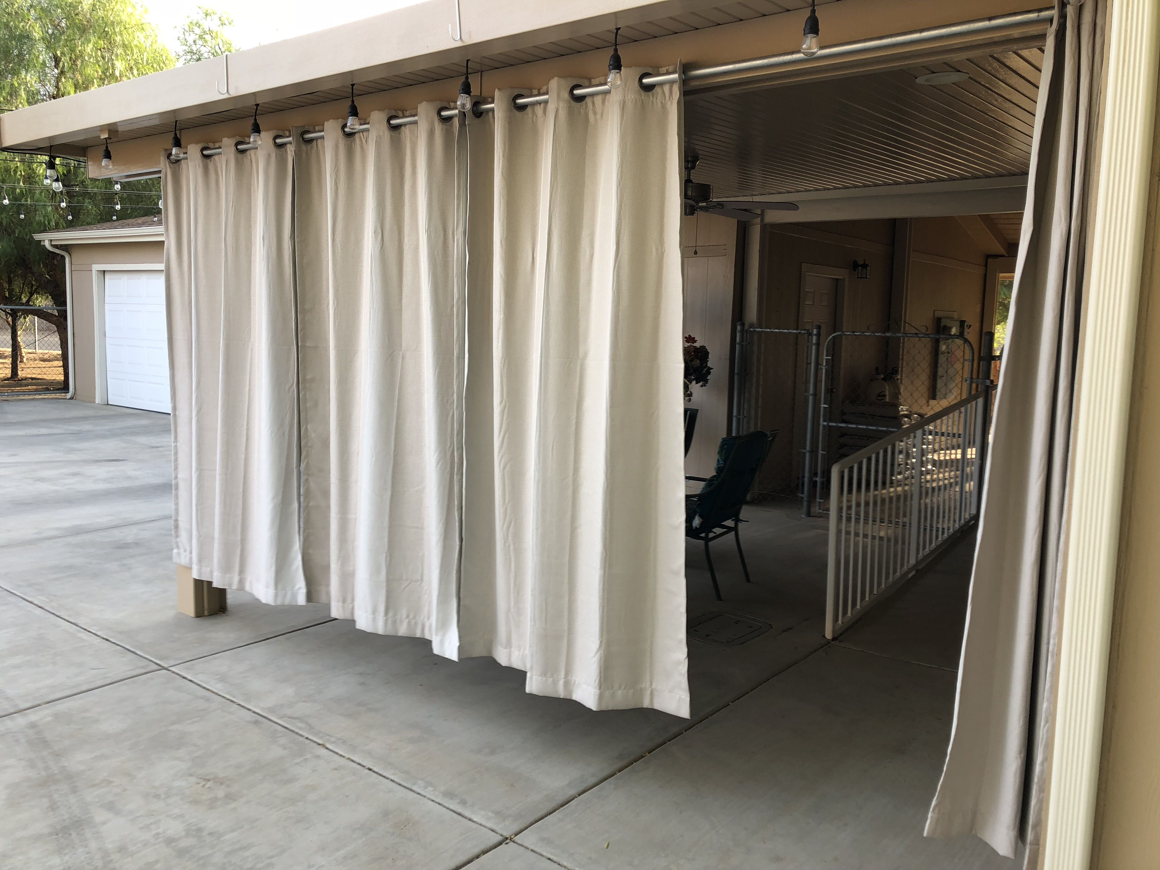 Hang Drapes On Your Alumawood Patio Cover Aluminum Patio Covers Outdoor Patio Drapes Patio Drapes
