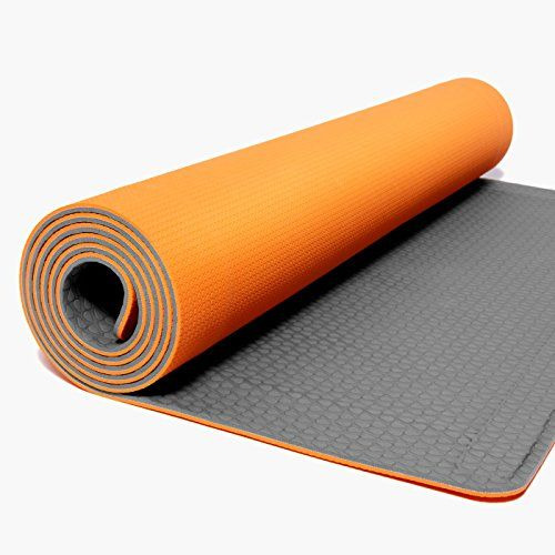 Yoga Mats Yoyo Mat Self Rolling Yoga Mat 28 X 72 Orange Grey This Is An Amazon Associate S Pin Find Out More On Yoga Mat Print Yoga Mat Large Yoga Mat
