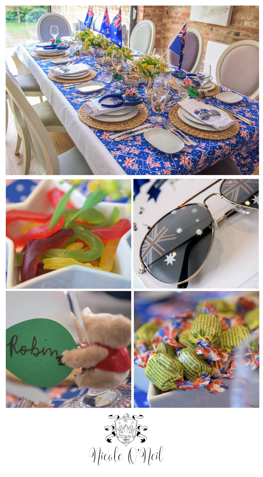 Be inspired by this fun Australia Day Party Table Setting. Complete ...