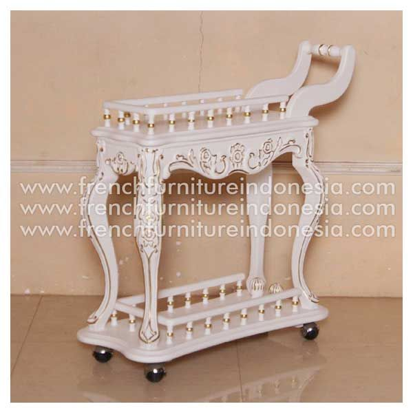 Order Rosse Tea Cart From Antique French Painted Furniture Manufacturers.  We are reproduction 100 % - Order Rosse Tea Cart From Antique French Painted Furniture