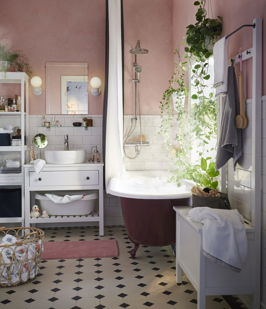 The Nordroom Pink Bathroom From The Ikea Spring Catalog 2019 Ikea Bathroom Pink Bathroom Bathroom Inspiration