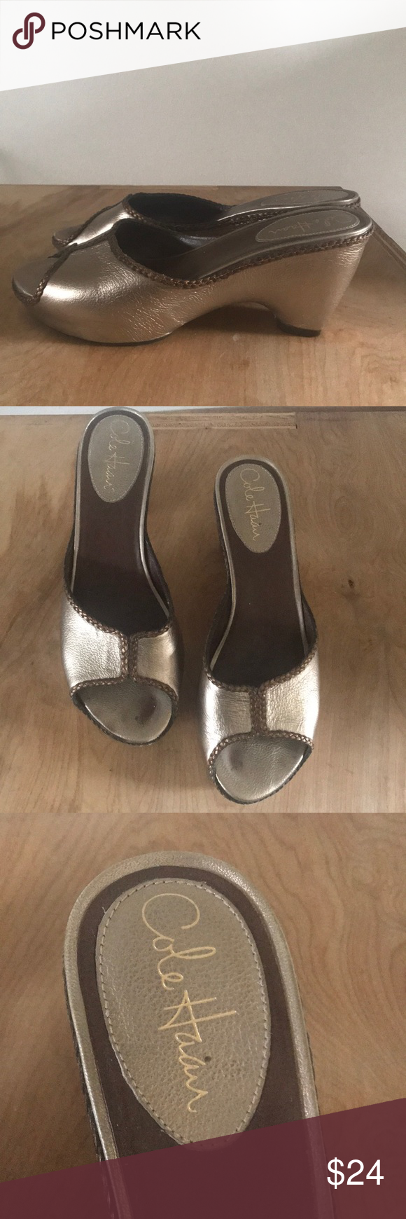 Cole Haan Nike Air open toe heels