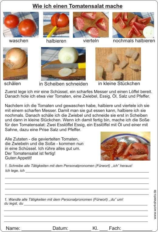 tomatensalat rezept beschreibung mit text und bild schule allgemein learn german german. Black Bedroom Furniture Sets. Home Design Ideas