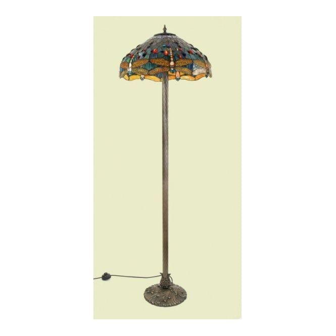 Charming Classic British Lighting FLORENCE Traditional Tiffany Floor Standing Lamp