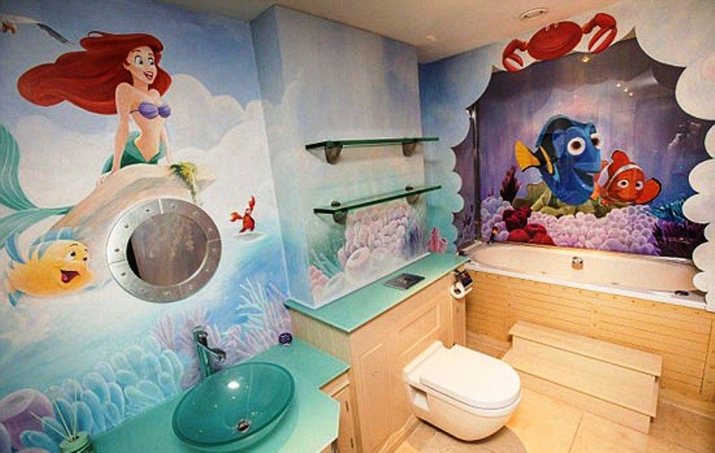 Little Mermaid Bathroom Decoration Ideas Disney Bathroom Little