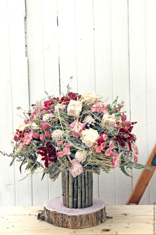 Купить композиции сухоцветы подарок 7 лет свадьбы жене