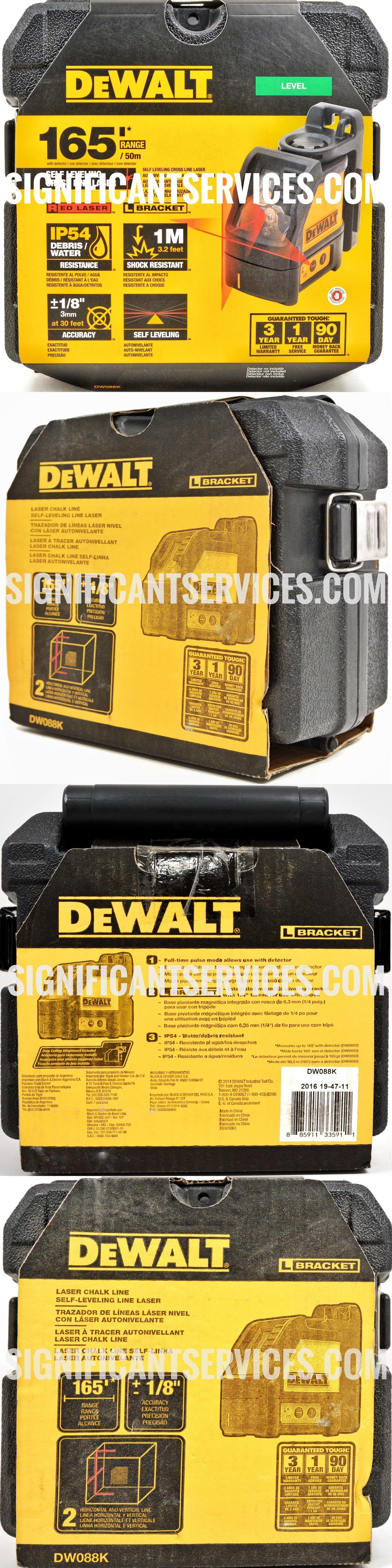 Laser Measuring Tools 126396 Dewalt Dw088k Self Leveling Horizontal Vertical Cross Line Laser Level Brand New Buy It No Dewalt Laser Levels Measuring Tools