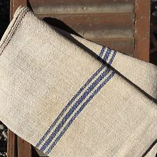 Strong Vintage Grain Sack Hemp Linen Hessian Material DIY Project Upholstery