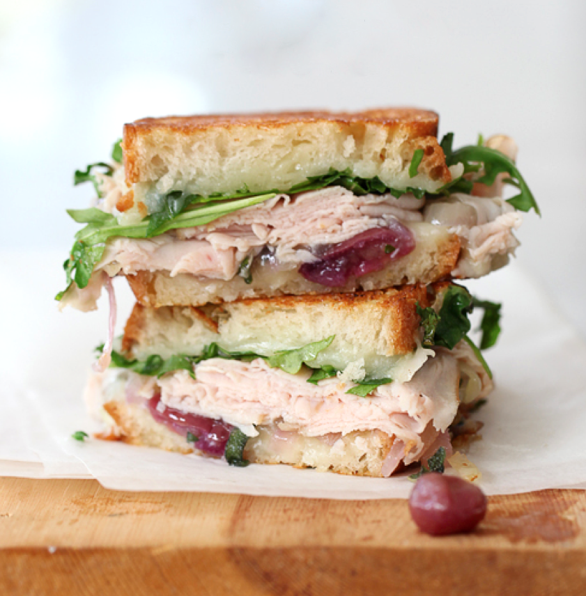 Turkey Apple Cheddar Sandwich Recipe: Turkey And White Cheddar With Caramelized Onions And