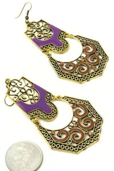 Earrings vintage style
