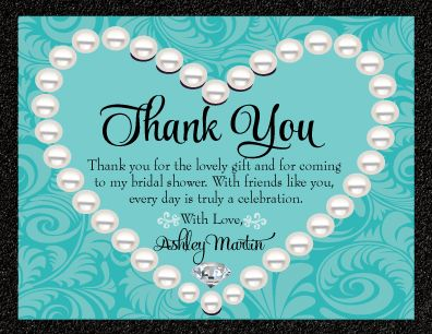diamonds u0026 pearls thank you card di1507ty custom invitations and