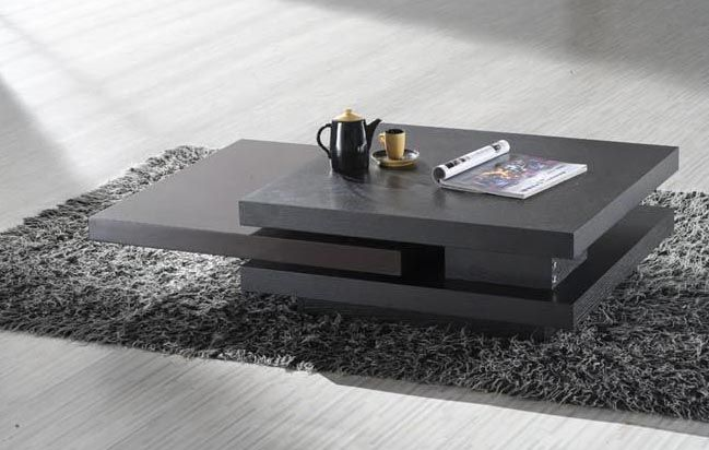 Wenge Contemporary Coffee Table Modern Living Room Table Modern