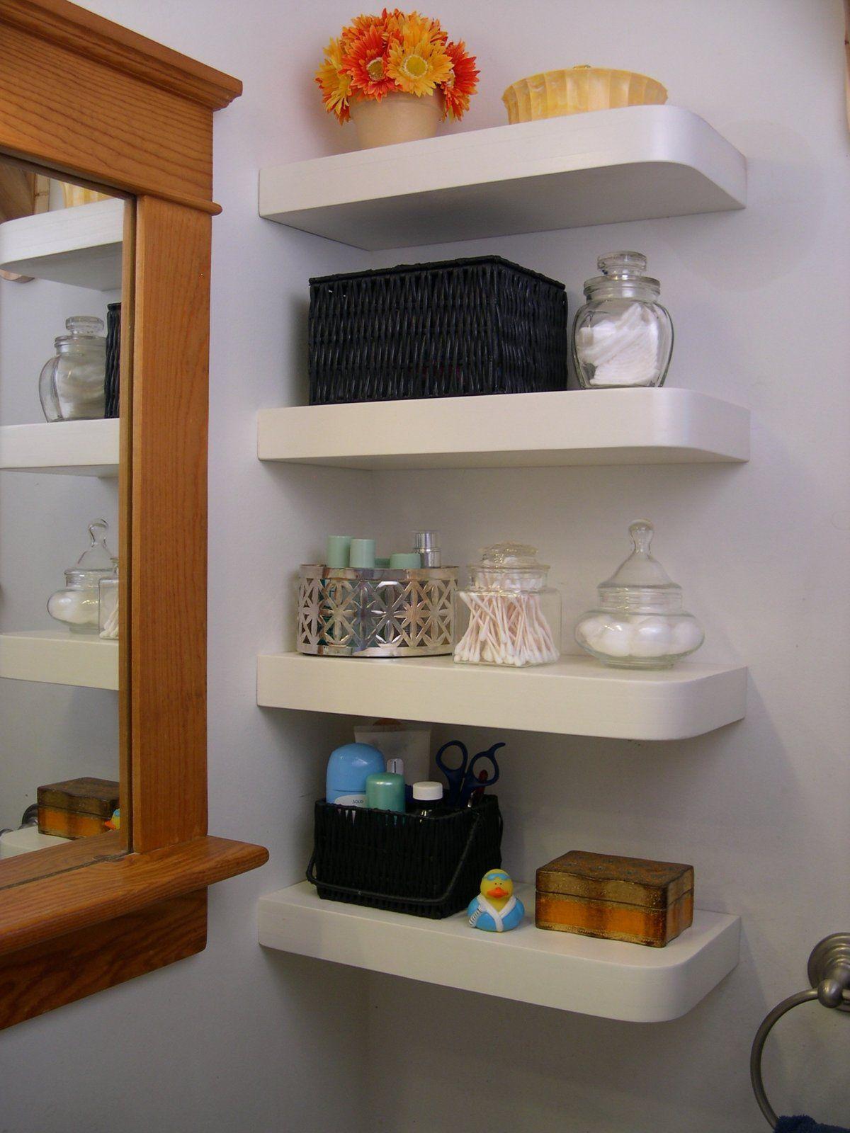 Shelves Bathroom Corners Wall Corner Shelf Floating Box