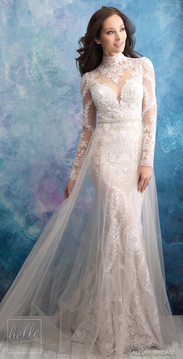 b4bf1345443 Allure Bridals Wedding Dress Collection Fall 2018