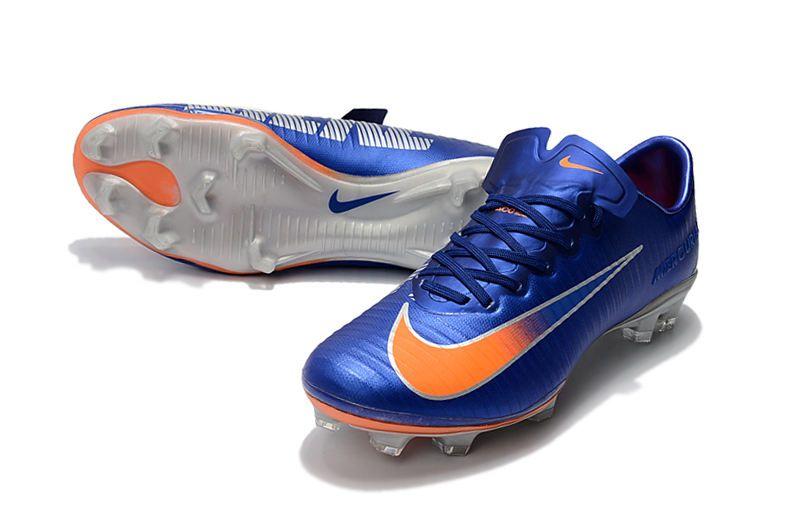 trapo Dar derechos hidrógeno  Nike Tacón de Fútbol Mercurial Vapor 11 FG ACC - Azul Naranja   Naranja y  azul, Botas de futbol nike, Nike